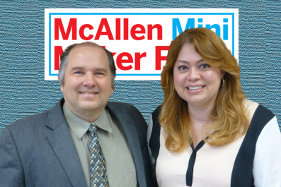 Left to Right: Eduardo Millet, McAllen Chamber of Commerce; Susan Valverde, Sylvan Learning – RGV